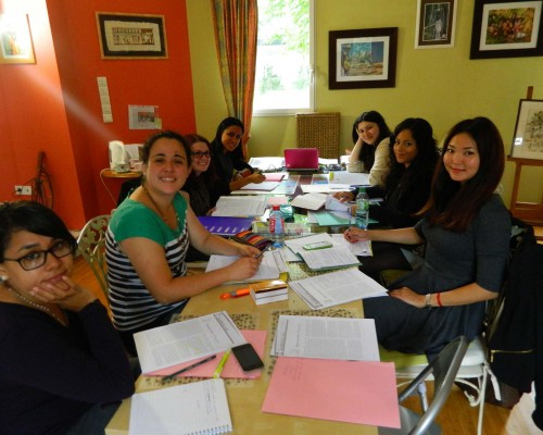 Un cours de Français dans l'école à Nantes